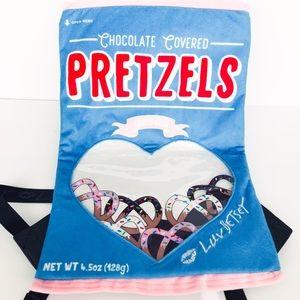 Betsey Johnson Velvet Pretzel Thin Backpack
